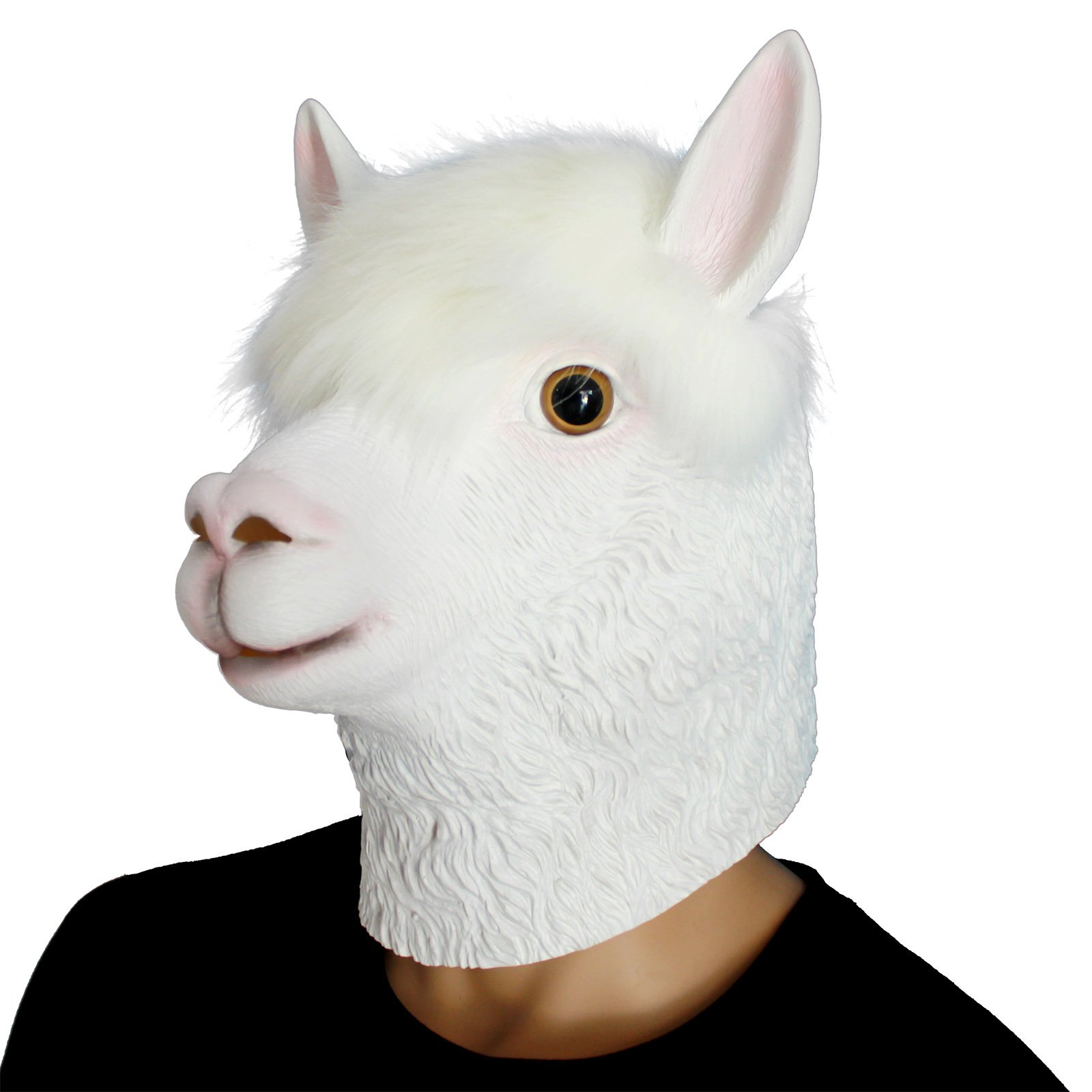 Novelty Latex Alpaca Mask