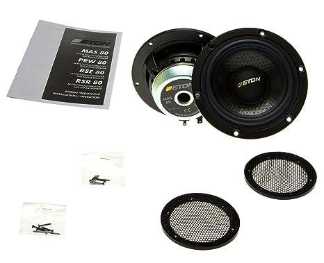 ETON mAS 80 x 80 mm de voiture audio pour haut-parleur médium hexacone eTON mAS 160