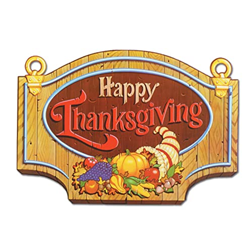 Beistle 99889 Happy Thanksgiving Sign 13 x 18 12 Cutouts Per Package