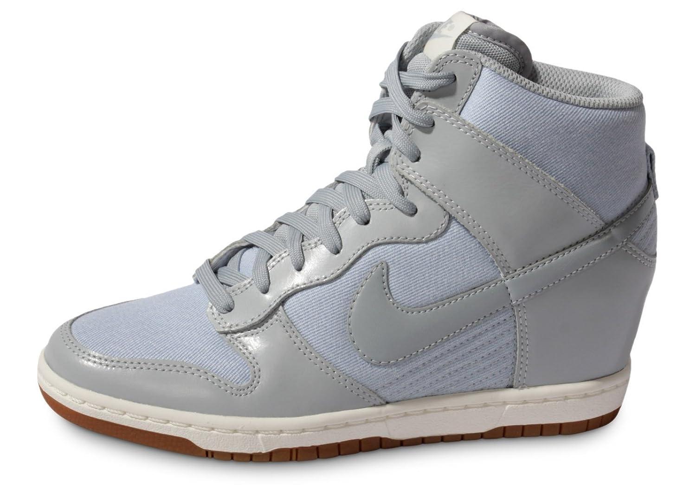 Womens Nike Dunk Sky Hi Essential Light Grey - Silver - Gum Womens 8.5