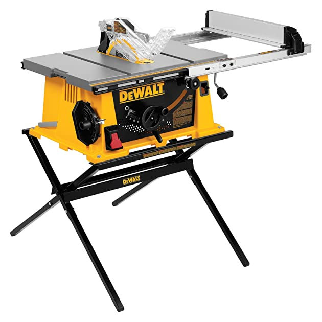 Dewalt dw744x 10 inch job site table saw with 24 1 2 inch for 10 inch table saw comparison