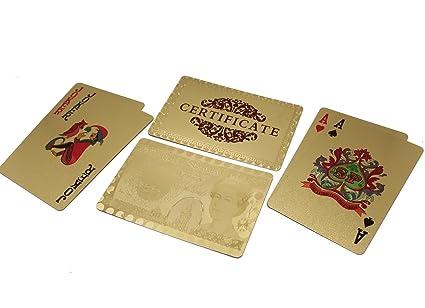 Baraja Cartas de Poker Doradas