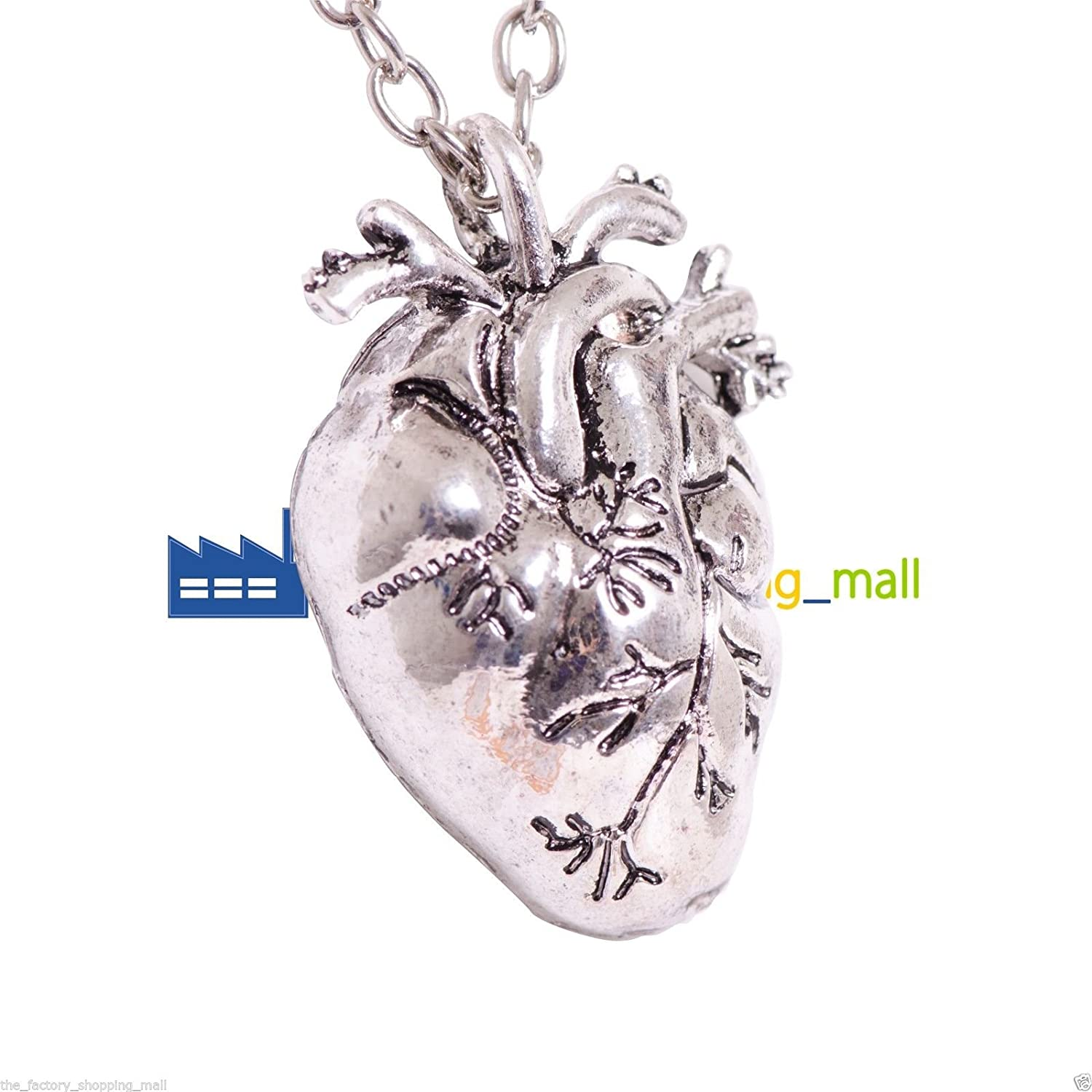 Steampunk Human Heart Anatomical Human Heart Pendant