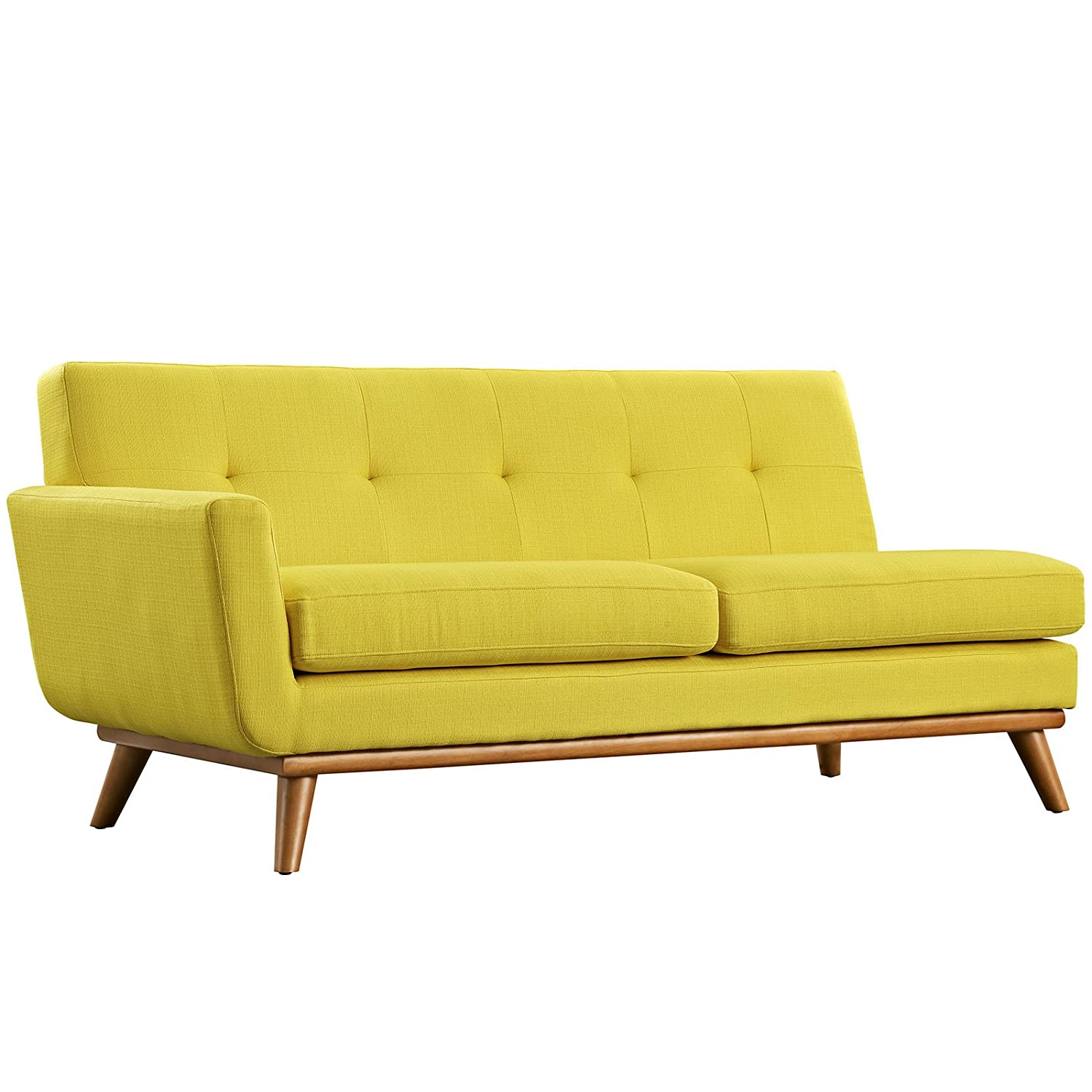 LexMod Engage Left-Arm Loveseat in Sunny