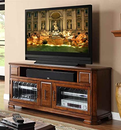62 in. TV Cabinet in Toffee Finish