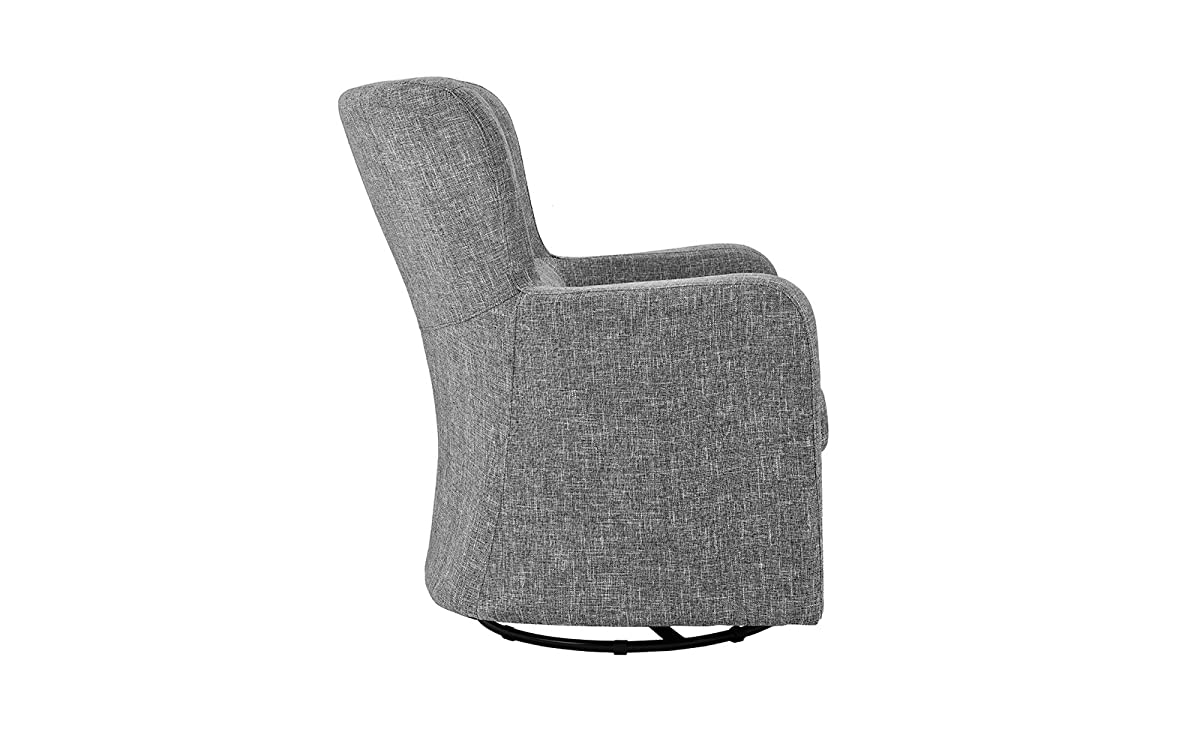 Modern Swivel Armchair, Rotating Accent Chair for Living Room (Light Grey)