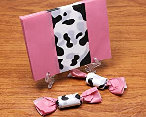 Penta Angel Candy Wrappers 400Pcs Twisting Wax Caramel Paper Sweets Lolly Baking Nougat Wrapping Paper for Homemade Wedding Birthday Christmas Chocolate Candy Packaging (Cow) (Color: Cow)