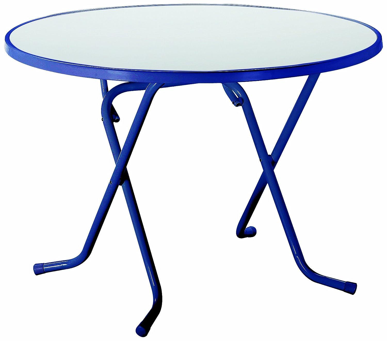 BEST 26528020 Schernklapptisch Primo rund, Durchmesser 80 cm, blau günstig online kaufen