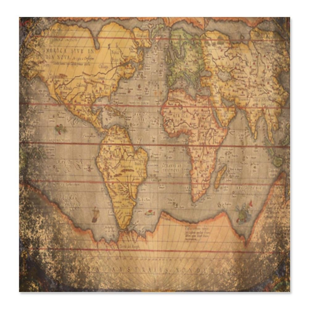 World map shower curtain for Old world curtains and drapes