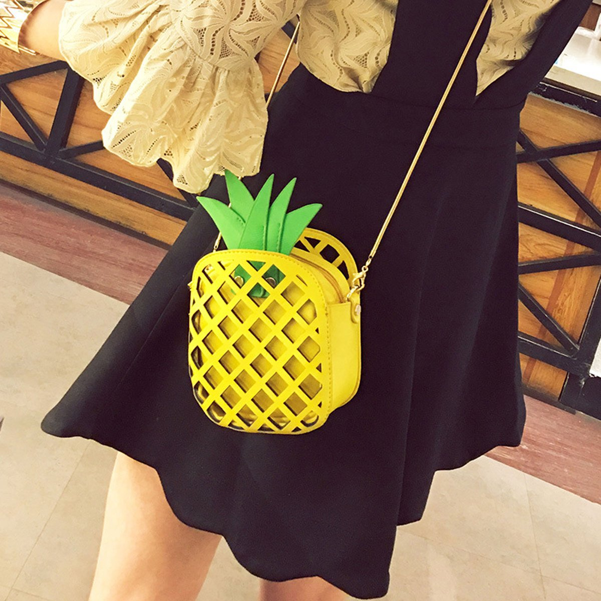 Leather Pineapple Clutch Purse
