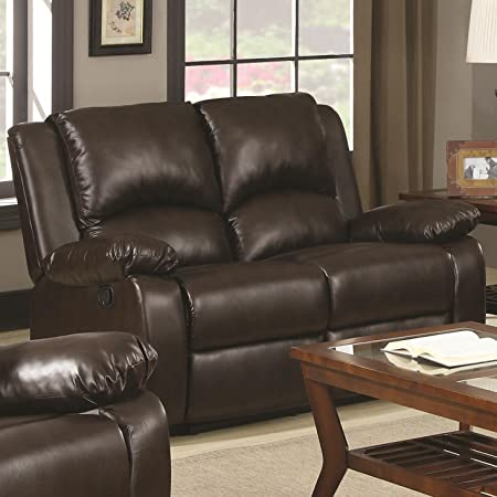 Coaster Home Furnishings 600972 Casual Motion Loveseat, Brown