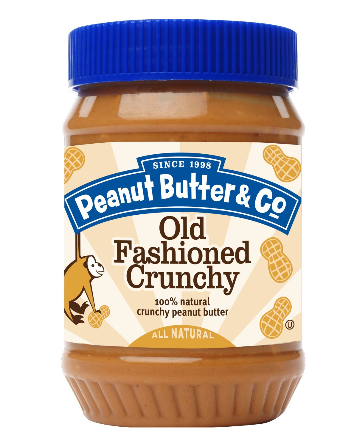 Peanut Butter & Co Old Fashioned Peanut Butter, Crunchy, 16 Ounce (Pack of 6)