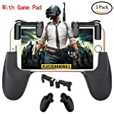 Game Controller, Yobenki Game Pad Sensitive Shoot and Aim Keys Joysticks Shooter Controller for PUBG/Knives Out/Rules of Survial Gaming Triggers for IOS and Android(left and right) (Holder+gen 2)