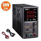 DC Power Supply Variable, Tacklife Adjustable 30V/5A Switching Regulated Digital Power Supply,110V with Alligator Leads US Power Cord (Color: Black, Tamaño: MDC01)