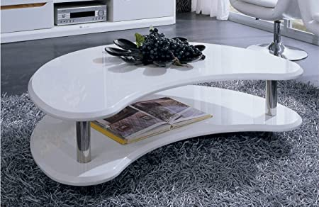 201171 - Modern White Lacquer Coffee Table White
