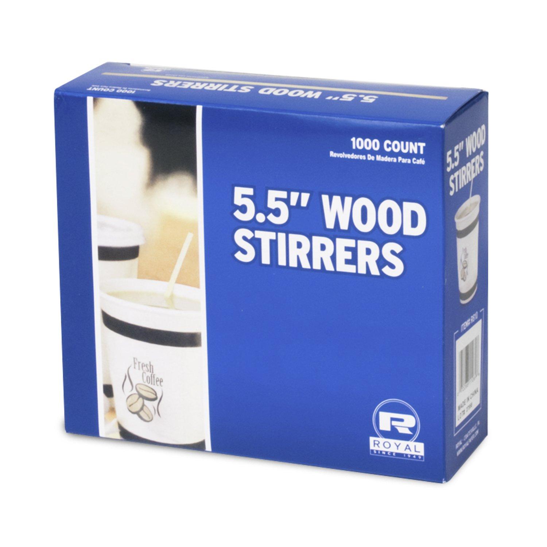 Royal Wood Coffee Beverage Stirrers 1000