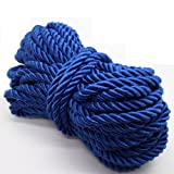 U Pick 10yds 5mm Decorative Twisted Satin Polyester Twine Cord Rope String Thread Shiny Cord Choker Thread (08:Royal Blue) (Color: 08:Royal blue, Tamaño: 5mm)