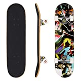 Kids Pro Tricks Skateboards Complete 31x 8 inch Board for Extreme Sports and Outdoors