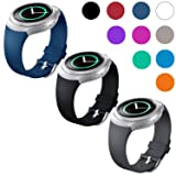 EEEKit Replacement for Samsung Gear S2 (SM r720 Version ONLY) Smartwatch, 3 Pcs Silicone Wrist Smart Watch Band Bracelet Strap and Storage Pouch