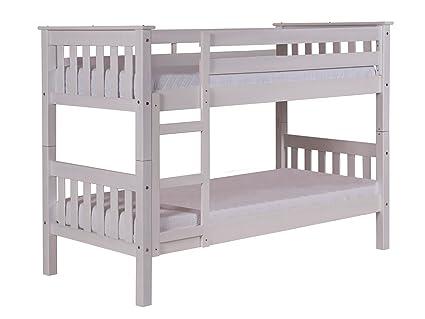 Design Vicenza Barcelona Long Bunk Bed 2ft6 Whitewash