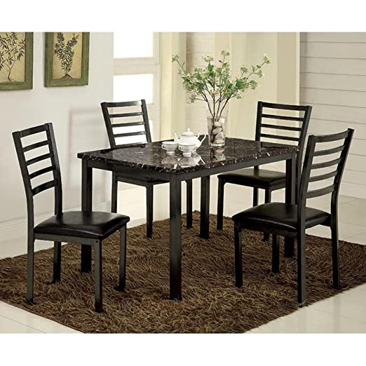 Furniture of America Katzman 48 in. Dining Table 5 Piece Set