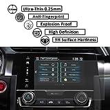 JoyTutus 2 Pcs Honda Tempered Glass Screen Protector Foils Fit the 2016 2017 Civic EX EX-T EX-L Touring 7