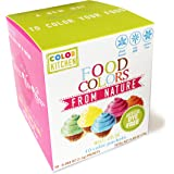 Food Coloring - ColorKitchen Color Packets (10 Pack) - Blue, Pink, Yellow, Orange, Green - (2.5g Per Packet) - Natural - Vegan - Non-GMO - No Artificial Food Dyes- Highly Concentrated Powder Pigment
