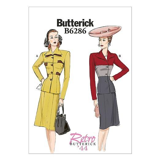 1940s Sewing Patterns – Dresses, Overalls, Lingerie etc 1944 Jacket & Skirt B5 (8-10-12-14-16) $9.55 AT vintagedancer.com