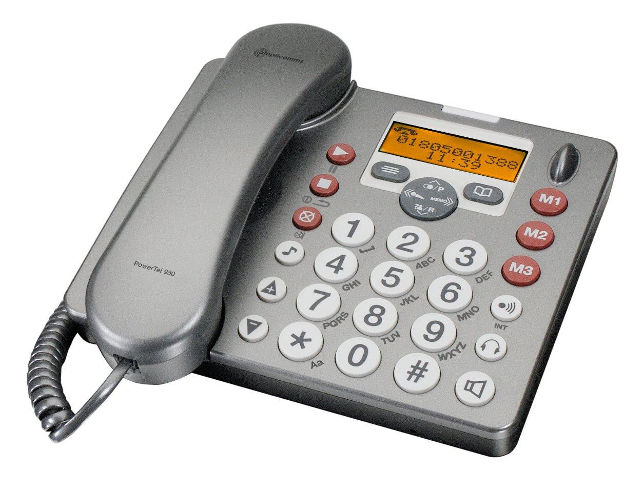 AMPLICOMMS PowerTel 980 Tischtelefon mit zus. Hand  Kundenbewertung und weitere Informationen