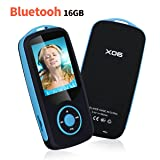 Mp3 Player with Bluetooth 16GB Music Player Support up to 64GB-Blue by Niusute (Color: Blue)