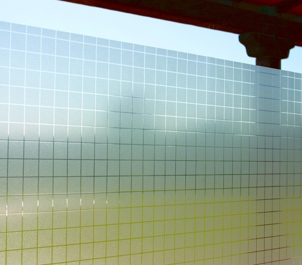 LINEA Fix Dekorfolie statische Fensterfolie Check Karo Größenwahl 0.92m x 3.50 m   Kundenberichte und weitere Informationen