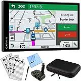 Garmin DriveSmart 61 NA LMT-S Advanced Navigation GPS with Smart Features Deluxe Bundle (Color: Case+DC Port Bundle)