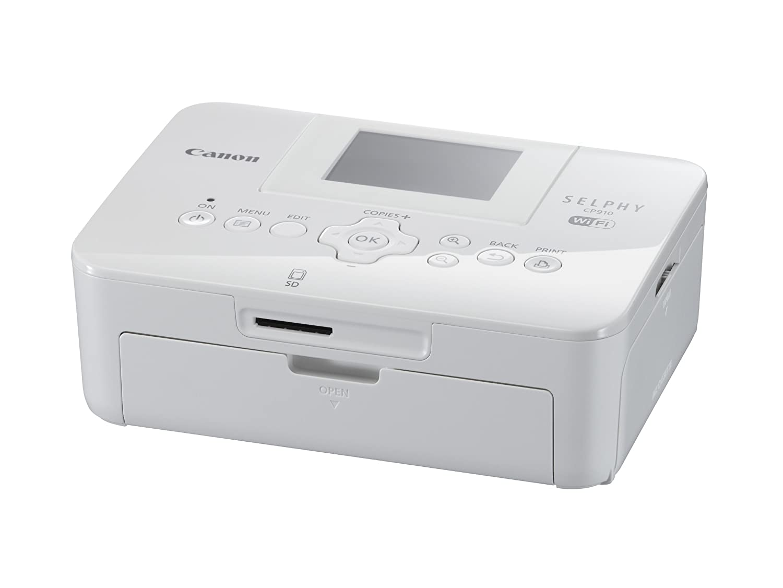 Canon SELPHY CP910 Portable Wireless Compact Color Photo Printer, White