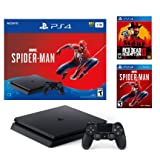 Sony Playstation 4 1TB Marvel's Spider-Man Red Dead Redemption Bonus Bundle: Red Dead Redemption 2, Marvel's Spider-Man, Playstation 4 1TB Jet Black Console, DUALSHOCK 4 Wireless Controller (Color: BLACK)