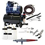 Paasche Airbrush VL-300R Double Action Siphon Feed Airbrush Set and Compressor with Tank