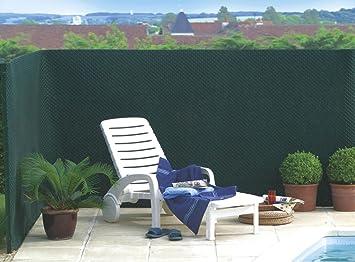 Brise vue vert mailles en plastique HDPE 550g/m² Tandem 1,20 x 25 m