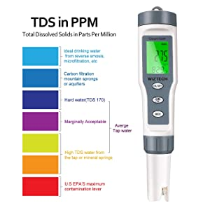 Wiztech Digital PH Meter with ATC: 3 in 1 PH TDS Temp - High Accuracy Pocket Size Water Quality Tester for Drinking Water, Pool, Lab, Food Processing, Aquarium, Pond, Beer Brewing, Kombucha