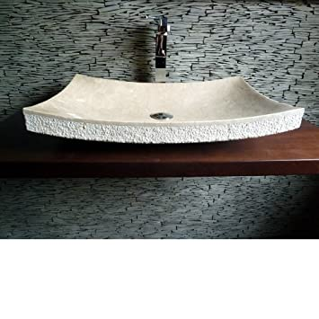 Spa Ambiente, Marmor Naturstein, Aufsatz Waschbecken Marmor ZEN, Asia Style