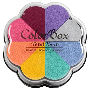 CLEARSNAP 080000-08002 Colorbox Pigment Petal Point Option Pad, Enchantment, 8 Colors Per Pad (Color: Enchantment)