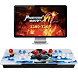 Best brose 2706 Classic Arcade Game Machine 2 Players Pandoras Box 11 1280x720 Full HD Video Game Console with Arcade Joystick Support HDMI VGA Output (Black&White) (Black) (Color: Black)