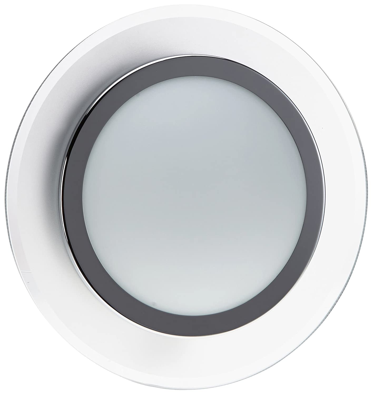 Trio Leuchten LED-Deckenleuchte in Aluminium/Chrom, Glas aussen satiniert/klar, innen opal matt weiß, inklusive 1x 9W LED, ø 30 cm 629210105