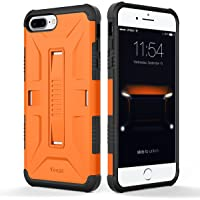 Yesgo Military Heavy Duty Hybrid Rugged Protective Case for Apple iPhone 7 (Orange)