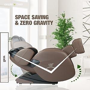 Space Saving Zero Gravity Full Body Kahuna Massage Chair Recliner