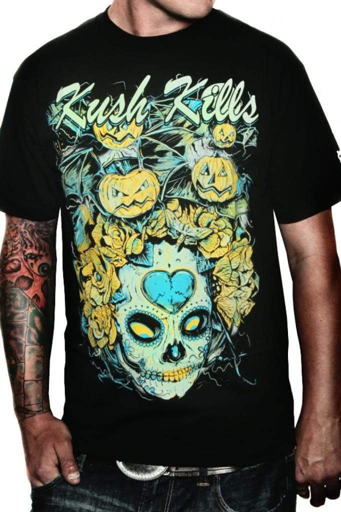 Men's Kush Kills Pumpkin Bats Tee