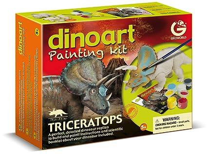Geoworld - CL 303K - Figurine - Dinoart Painting Kit - Triceratops
