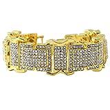 Masculine Hip Hop Bracelet Gold Bling