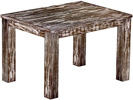 Brasil Furniture Dining Table Pine Wood Tone Shabby Antique 'Rio' 120 x 90 x 78 cm