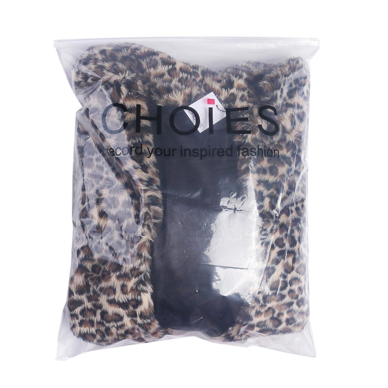 Choies Women Elegant Vintage Leopard Print Lapel Faux Fur Coat Fall Winter Outwear 4
