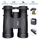 10x42 Compact Binoculars for Adults,Night Vision Waterproof Binoculars for Bird Watching Hunting Opera Travel Theater Concert Stargazing Hiking,Long Range High Power Folding Binoculars (Color: Nitrogen waterproof 10*42)