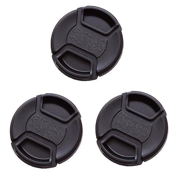 IMZ Lens Cap Bundle - 3 x 82MM Front Lens Filter Snap On Pinch Cap Protector Cover For DSLR SLR Camera Lens (Tamaño: 82 mm)